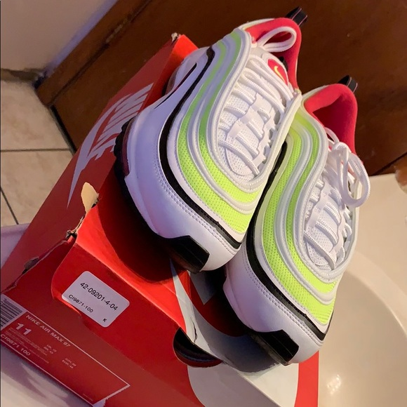 nike air max 97 pink and green
